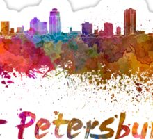 St Petersburg FL skyline in watercolor Sticker