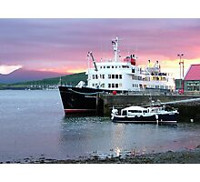 Oban sunset with ' Hebridean Princess !' Photographic Print