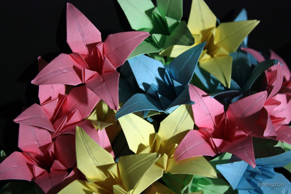Origami Flowers #1-2 by jimmyzoo
