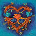 Love Birds by Lisa Frances Judd ~ Original Australian Art