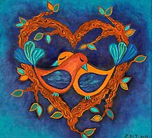 Love Birds by Lisa Frances Judd~QuirkyHappyArt