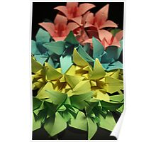Origami Flowers #1-5 Poster