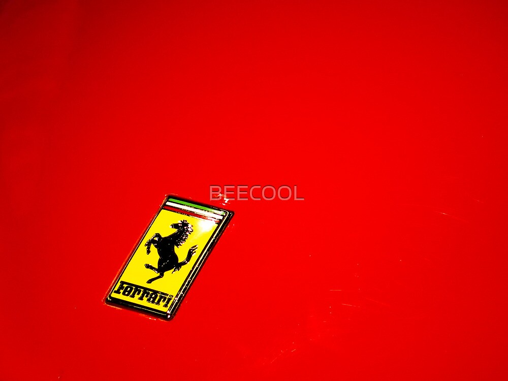 Ferrari Logo On Red by BEECOOL
