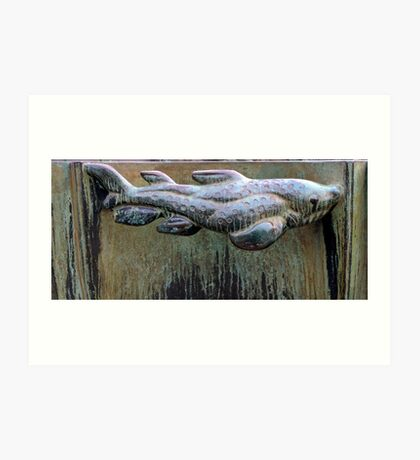 Very Fishy Sculpture by Carl Milles Art Print