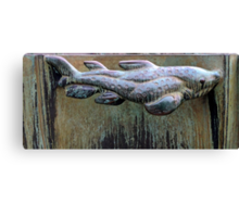 Very Fishy Sculpture by Carl Milles Canvas Print