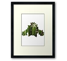Cacnea used Needle Arm Framed Print