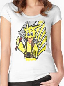 Scribble Choco Strife Women's Fitted Scoop T-Shirt