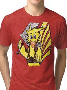 Scribble Choco Strife Tri-blend T-Shirt