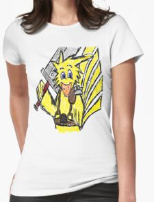Scribble Choco Strife Womens Fitted T-Shirt