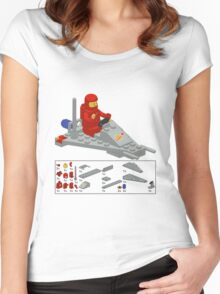 Lego Space Scooter (vector art) Women's Fitted Scoop T-Shirt