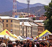 Salamanca Market—Hobart, Tasmania by Brett Rogers