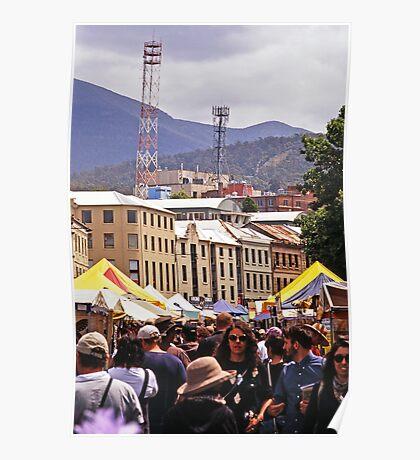 Salamanca Market—Hobart, Tasmania Poster