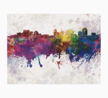 Salt Lake City skyline in watercolor background Kids Tee
