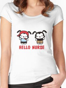 Hello Nurse Women's Fitted Scoop T-Shirt