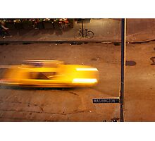 Taxi in West Village Photographic Print