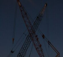 Cranes on the East River by tomduggan