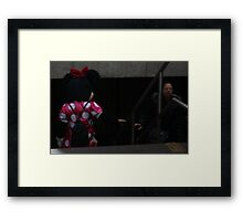 Minnie Mouse on the Subway Framed Print