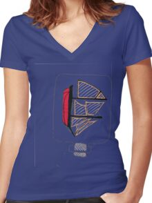 Ship in A bottle Tee Shirt Women's Fitted V-Neck T-Shirt