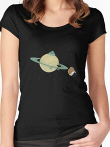 Space Heater Women's Fitted Scoop T-Shirt