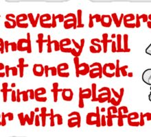 Red Rover Sticker