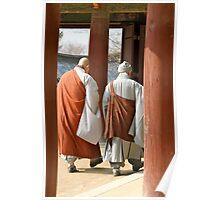 Bulguksa monks Poster