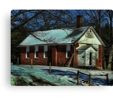 Abandoned house of God Canvas Print