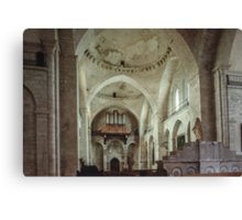 C17 reconstruction of Church Souillac 198402270048 Canvas Print