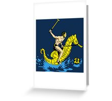 Real Water Polo Greeting Card
