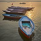 Boats on the Ganges by Peter Hammer