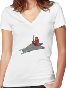 Lego Space Scooter (photo-realistic) Women's Fitted V-Neck T-Shirt