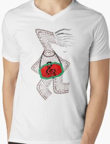 Sing the song of unity, dance the dance of love Mens V-Neck T-Shirt