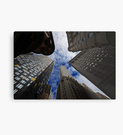 Looking up a skyscraper office block in New York City 2 Metal Print