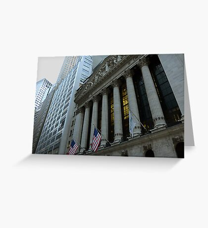 The New York Stock Exchange Greeting Card