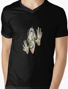 Albert Wacky Mens V-Neck T-Shirt