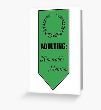 Adulting: Honorable Mention Greeting Card