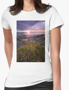 Maria island sunset Womens Fitted T-Shirt