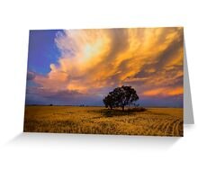 Heavens on fire Greeting Card