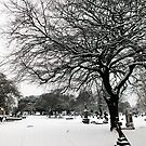 Snow in Lambeth Cemetery by Ludwig Wagner