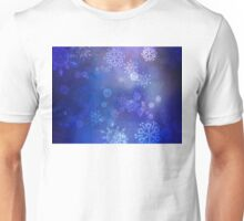 Blue Background with Snowflakes 2 Unisex T-Shirt