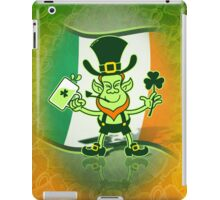 Green Leprechaun Drinking a Toast iPad Case/Skin