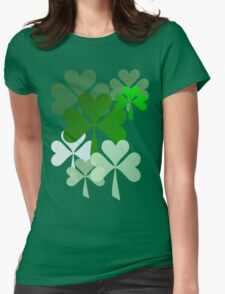 Faded Shamrocks Womens Fitted T-Shirt