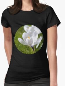 White Crocus Womens Fitted T-Shirt