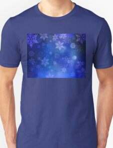 Blue Background with Snowflakes 3 T-Shirt
