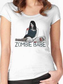 Cindy the Zombie Shirt Women's Fitted Scoop T-Shirt