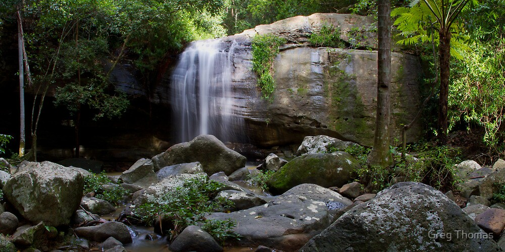 Serenity Falls Panorama by Greg Thomas