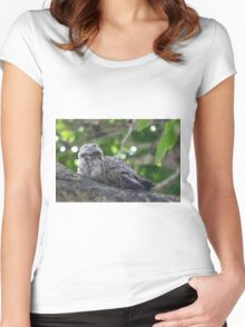 Guess Who Went Out On A Branch Women's Fitted Scoop T-Shirt