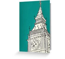 Big Ben Feeling Blue Greeting Card
