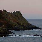 South Devon Gara Rock To Gammon Head Late Autunm Afternoon by richard wolfe
