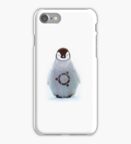 """Ubuntu"" Baby penguin tattoo iPhone Case/Skin"