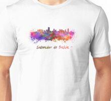 Salvador de Bahia skyline in watercolor Unisex T-Shirt